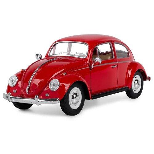 Купить Легковой автомобиль Serinity Toys Volkswagen Classical Beetle 1967 (7002DKT) 1:24, 16 см, коричнево-красный, Машинки и техника