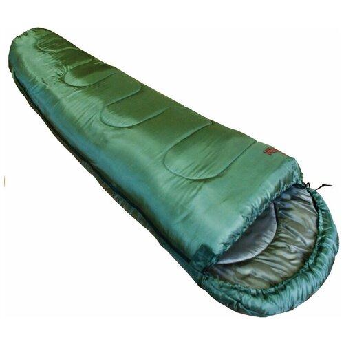 Спальный мешок Totem Hunter оливковый с левой стороны