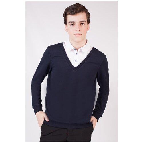 Купить Джемпер Nota Bene размер 122, темно-синий, Свитеры и кардиганы