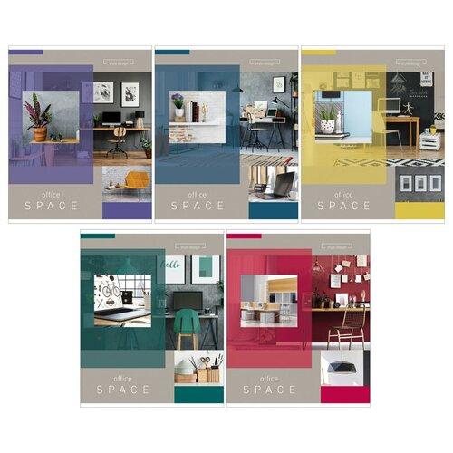 ArtSpace Упаковка тетрадей Офис, 5 шт./5 дизайнов, клетка, 60 л., Office space