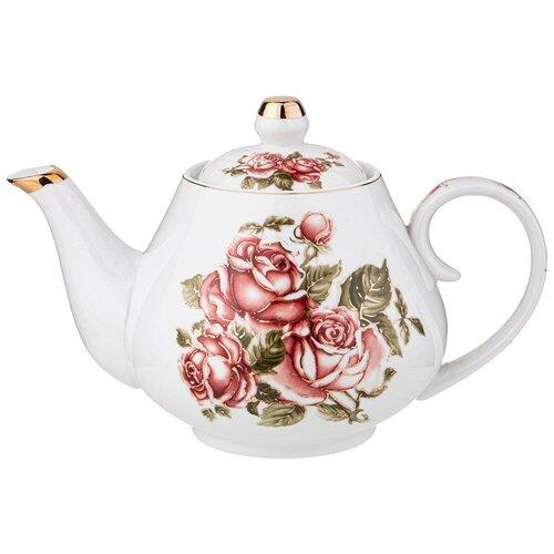 Чайник LEFARD корейская роза 1000 мл lefard заварочный чайник корейская роза 1 3 л белый розовый золотой