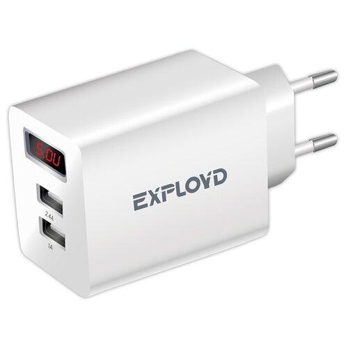 Фото - Зарядное устройство для телефона 2USB 3.4A Exployd Sonder EX-Z-791 White зарядное устройство exployd sonder 2xusb 3 4a white ex z 775