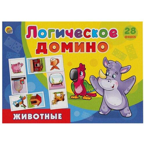 Настольная игра Рыжий кот Логическое домино Животные