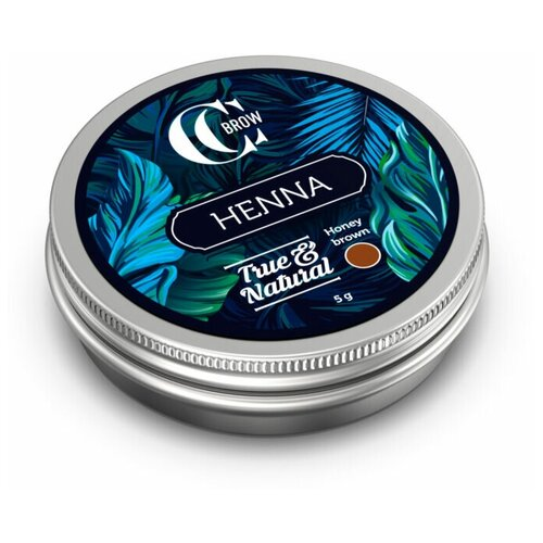 CC Brow Хна для окрашивания бровей и ресниц True&Natural 5 г honey brown