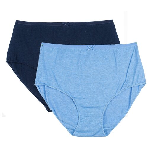 SWAN Набор трусов брифы Макси, 2 шт., размер 2XL, синий меланж/джинс меланж