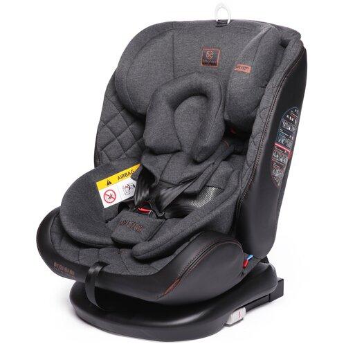 Автокресло группа 0/1/2/3 (до 36 кг) Babycare Shelter Isofix, эко-серый автокресло бустер прайм isofix группа 1 2 3 цвет серый