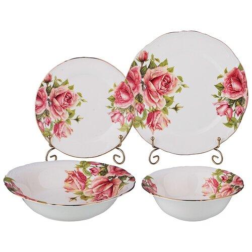 Фото - Столовый сервиз Lefard Жаклин 127-632, 6 персон, 19 предм., белый/розовый столовый сервиз domenik meadow dm9373 6 персон 19 предм белый цветы