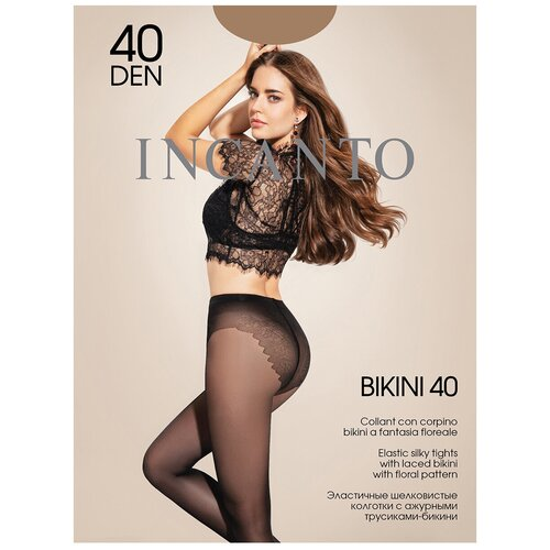 Колготки Incanto Bikini, 40 den, размер 3-M, daino (бежевый)