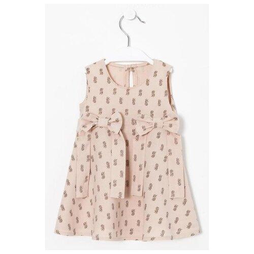 Купить Платье Крошка Я Ананасы размер 86-92, бежевый, Платья и юбки