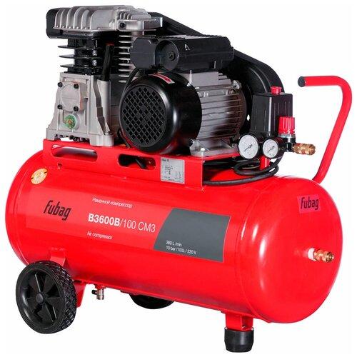 Компрессор масляный Fubag B3600B/100 CM3, 100 л, 2.2 кВт компрессор fubag vcf 100 сm3 440л мин 100л 10бар 2 2квт 220в