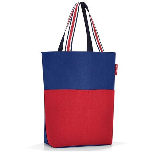 Сумка тоут reisenthel, текстиль, синий/красный сумка тоут reisenthel текстиль красный