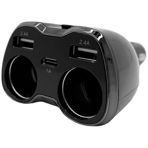 Автомобильный разветвитель прикуривателя Eplutus FC-223 (Черный)