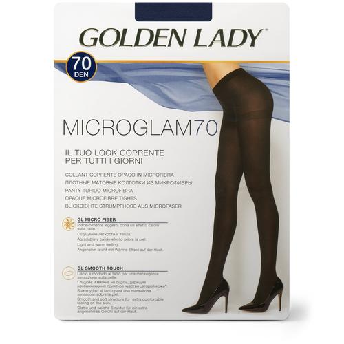 Колготки Golden Lady Microglam, 70 den, размер 3-M, blu tropicale (синий) колготки golden lady microglam 70 den размер 3 m nero черный