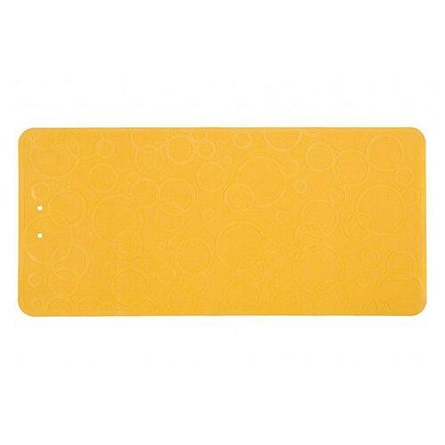 Коврик резиновый антискользящий для ванны ROXY-KIDS 76х35см желтый roxy kids коврик roxy kids для ванны антискользящий резиновый 35 76 см желтый