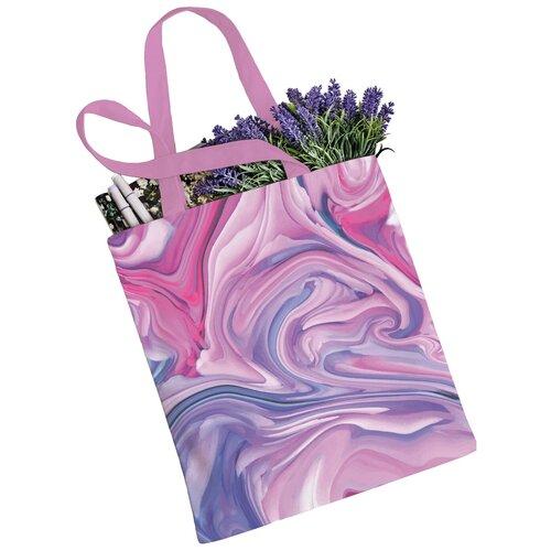 Сумка JoyArty, текстиль, розовый/сиреневый