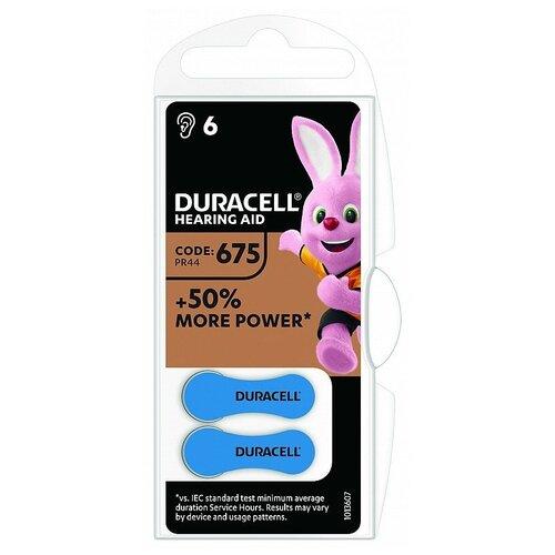 Фото - Батарейка Duracell ActiveAir 675/PR44, 6 шт. батарейки duracell activeair nugget box za675 da675 6bl