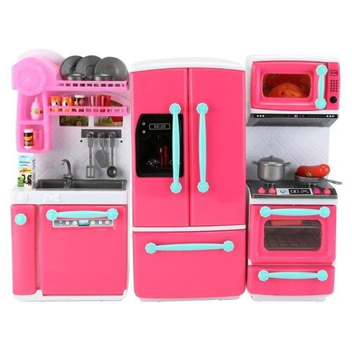 Фото - Кухня ABtoys Помогаю Маме PT-01394 розовый/белый набор abtoys помогаю маме pt 01342 розовый белый