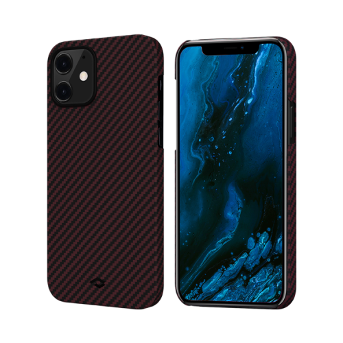 "Чехол Pitaka MagEZ Case для iPhone 12 mini 5.4"" черно-красный кевлар (арамид)"