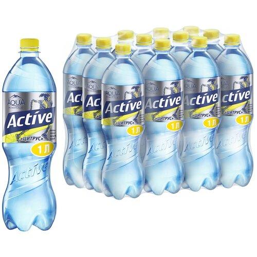 Фото - Вода питьевая Aqua Minerale Active негазированная Цитрус, ПЭТ, 12 шт. по 1 л вода питьевая aqua minerale негазированная 2 л