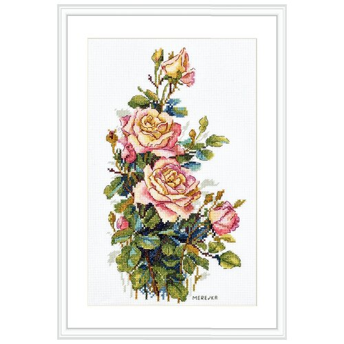 Купить Набор для вышивания Желтые розы MEREJKA K-154, Мережка, Наборы для вышивания