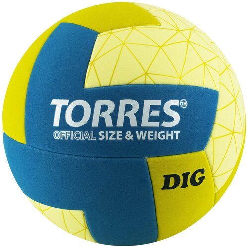 Волейбольный мяч TORRES DIG V22145 желтый/синий