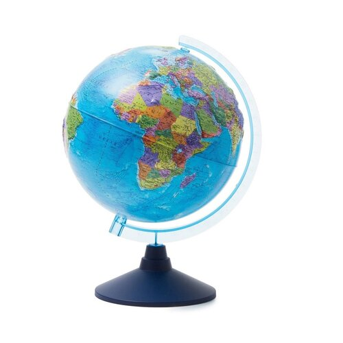 Фото - Globen Глобус Земли политический рельефный с подсветкой от батареек, диаметр 25 см. globen глобус земли globen физический с подсветкой 150 мм