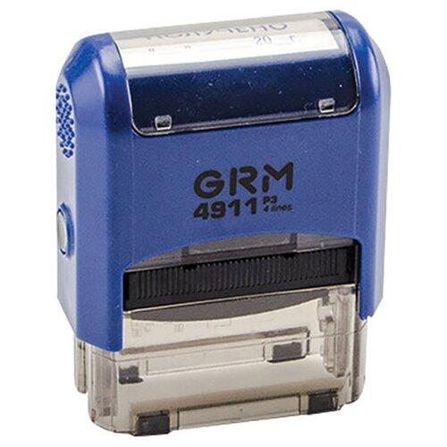 Фото - Штамп стандартный ПОЛУЧЕНО, оттиск 38х14 мм синий, GRM 4911 Р3, 110491170 штамп получено оттиск 38 14мм синий trodat ideal 4911 db 1 1 ш к 14863 161486 1 шт