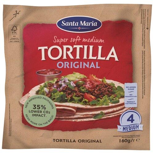 Santa Maria Тортилья пшеничная Original Super Soft medium, 4 шт./уп., 160 г