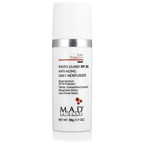 M.A.D Skincare Омолаживающий и увлажняющий крем-защита под макияж с защитой SPF 30 Photo Guard SPF 30 Anti Aging Daily Moisturizer 50 г бесцветный