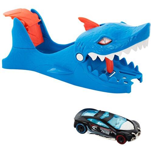 Пусковое устройство Hot Wheels City Shark Launcher GVF43 launcher track t rex rampage hot wheels