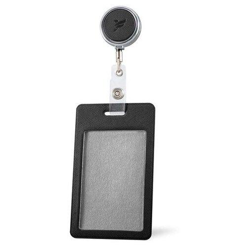 Держатель / бейдж / для пропуска/ бейджа / чехол / для карт доступа с рулеткой / Карман / обложка для проездного / Бейдж / Бейджик Flexpocket черный