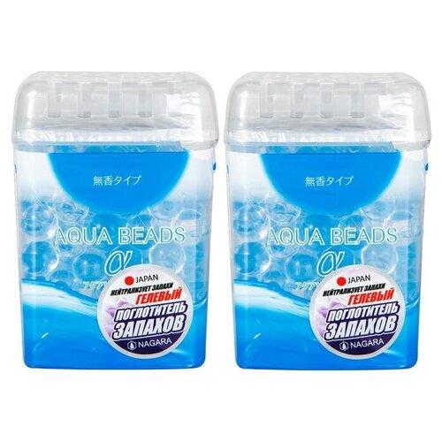 Набор NAGARA Aqua Beads Поглотитель запаха гелевый 360 г. 2шт