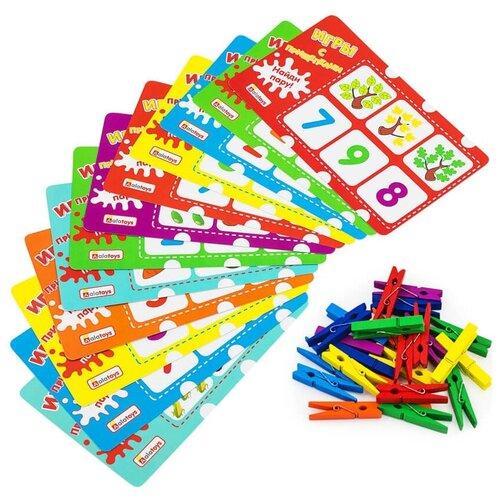 Обучающий набор Alatoys Учим цифры ПР07 разноцветный, Обучающие материалы и авторские методики  - купить со скидкой
