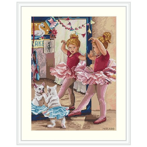 Набор для вышивания Балерина MEREJKA K-74, Мережка, Наборы для вышивания  - купить со скидкой