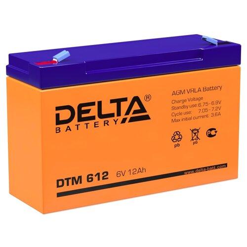 Аккумулятор AGM герметичный тяговый Delta DTM 612 151х50х100 мм 6 V Вольт / 12 Ah Ач