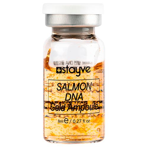 Stayve Salmon DNA Gold Ampoule Сыворотка для лица под дермапен на основе ДНК лосося, 1 шт х 8 мл