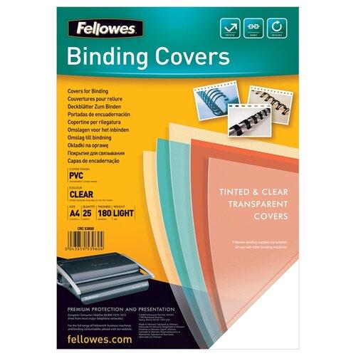 Обложка Fellowes FS-53800 clear 25 шт.