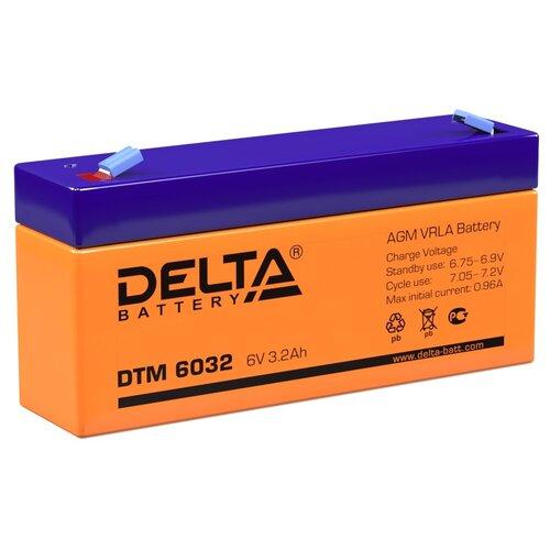 Аккумулятор AGM герметичный тяговый Delta DTM 6032 134х34х61 мм 6 V Вольт / 3,2 Ah Ач