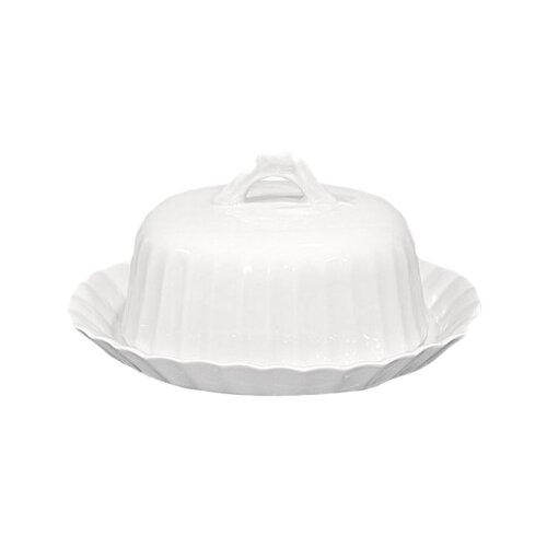 Масленка Добрушский фарфоровый завод Тюльпан белый по цене 569