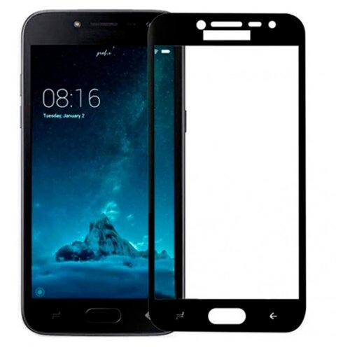Полноэкранное защитное стекло для Samsung Galaxy J2, Galaxy J2 Pro 2018 Full Glue Full Screen / Защитное стекло для Самсунг Галакси Джей 2 и Галакси Джей 2 Про 2018г. / 3D Полная проклейка экрана (Черный)