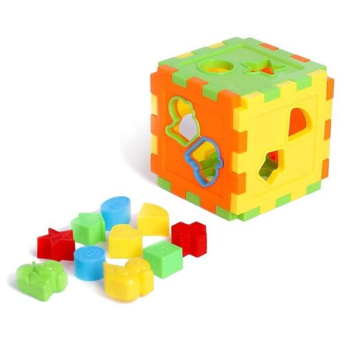 Развивающая игрушка-сортер «Куб» со счётами сортер red box активный куб