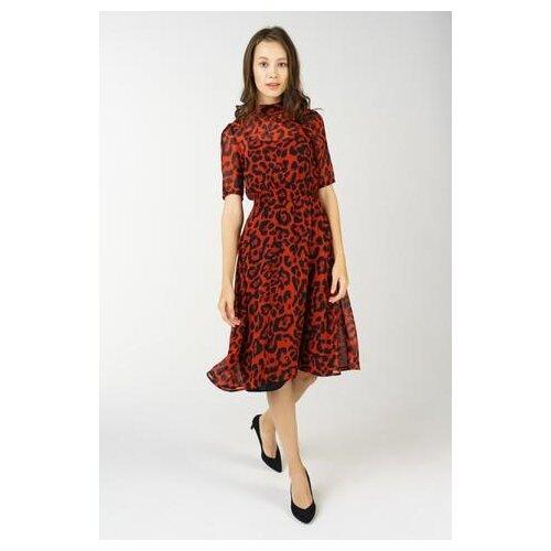 noisy may кардиган Платье Noisy May 27005333 женское Цвет Красный Анималистичный р-р 42-44 S