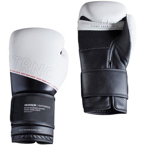 Боксерские перчатки 120 тренировочные белые Размер 8 OUTSHOCK X Декатлон Размер 8 OUTSHOCK X Декатлон