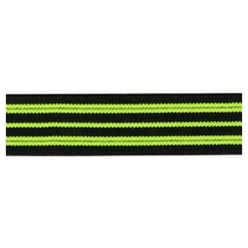 Купить Резинка неоновая, 21 мм, цвет зеленый с черным 78 % полиэстр, 22% латекс, PEGA, Технические ленты и тесьма