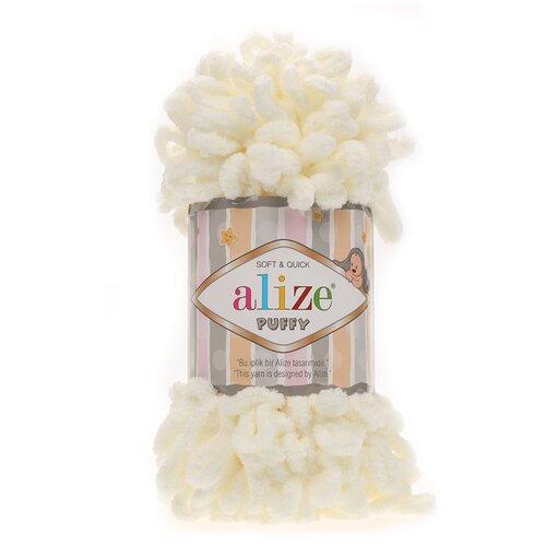 Купить Пряжа для вязания Alize 'Puffy' 100г 9м (100% микрополиэстер) (62 молочный), 5 мотков