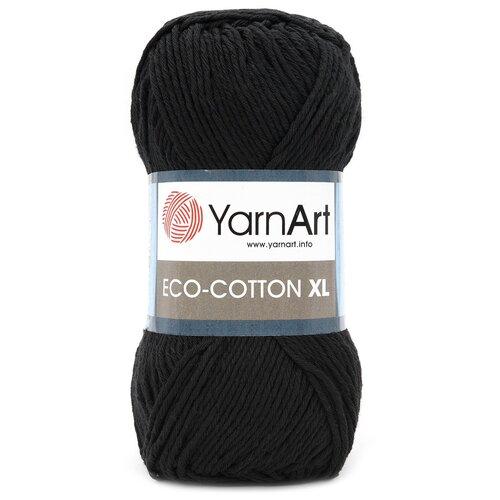 Пряжа YarnArt 'Eco Сotton XL' 200гр 220м (85% хлопок, 15% полиэстер) (761 черный), 5 мотков  - купить со скидкой