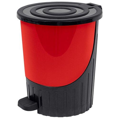 Мусорное ведро с педалью DD Style, красный, 26 л недорого