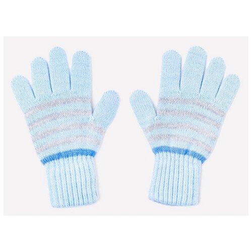 Купить Перчатки crockid размер 12, голубой/темно-голубой, Перчатки и варежки