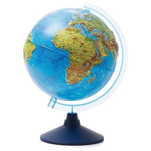 Купить Globen Глобус Земли физический рельефный с подсветкой от батареек, диаметр 25 см. , Глобусы