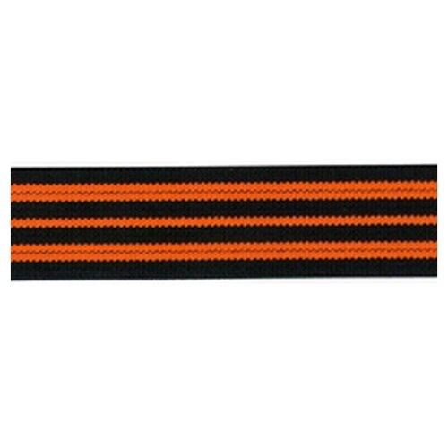 Купить Резинка неоновая, 21 мм, цвет оранжевый с черным 78 % полиэстр, 22% латекс, PEGA, Технические ленты и тесьма